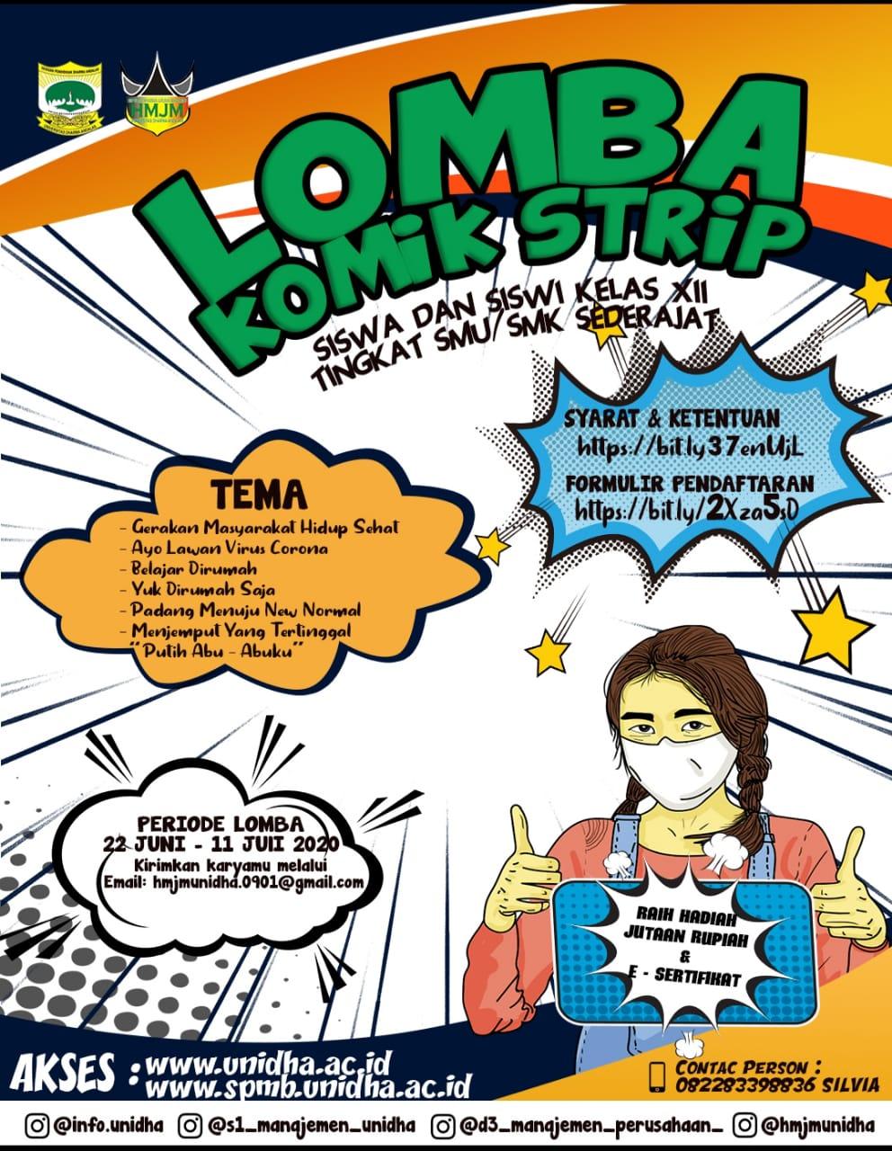 """""""Comic Strip Competition"""" S1 Manajemen UNIDHA"""