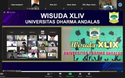 UNIDHA Laksanakan Wisuda XLIX Secara Daring